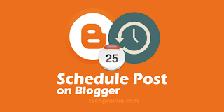 Schedule blog post