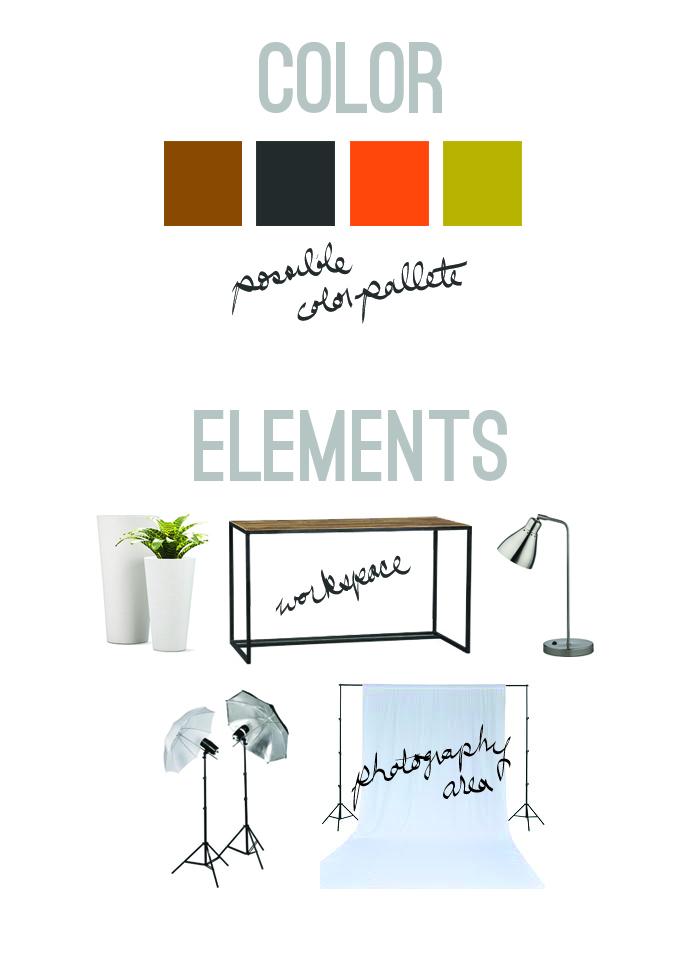 Color and Design Attic Studio planning