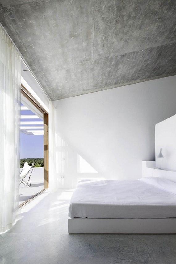 Soothing minimalist bedrooms for a simple life | Image via  Estudi Es Pujol de s'Era via Archdaily