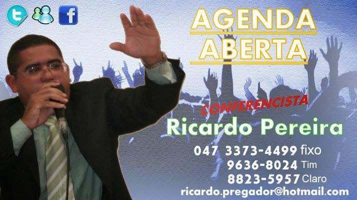 Pregador Ricardo Pereira.