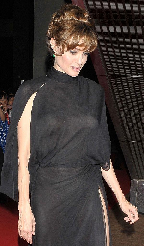 Angelina jolie see through tits