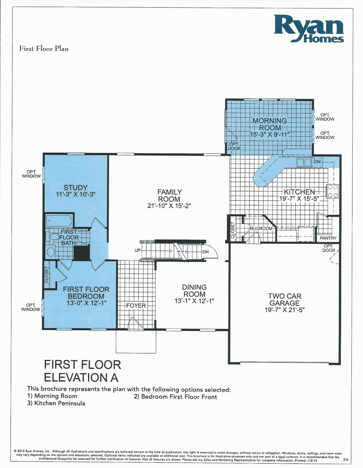 Roxbury floor plan ryan homes Home design and style