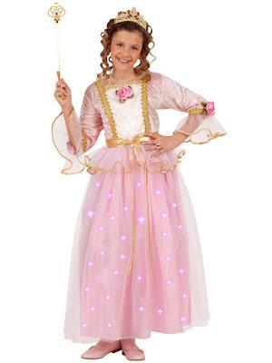 Prinsessekjole med lys i