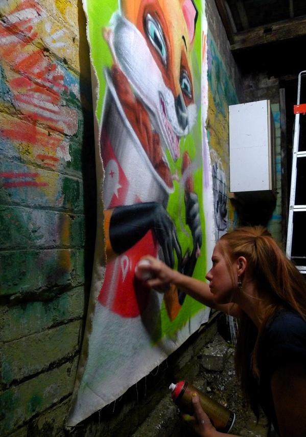 Bridge Stehli painting LONDON HIGH LIFE