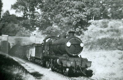 32349 emerging from Fareham Tunnel 1951