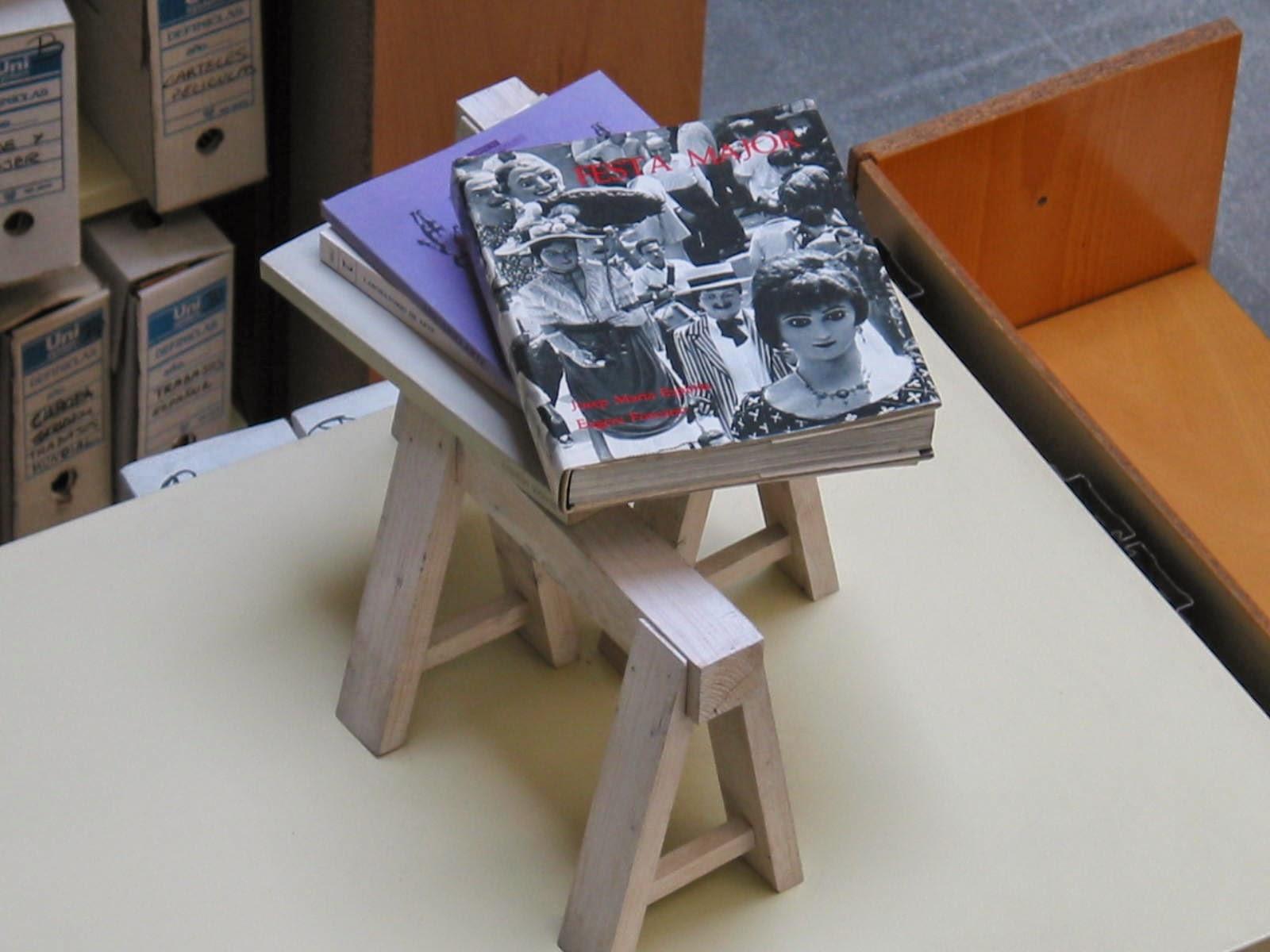 Intervenció a la Biblioteca. Professors i estudiants de l'assignatura Actituds Interdisciplinaries, 2007