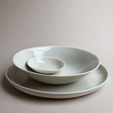 handmade porcelain place settings, by gleena