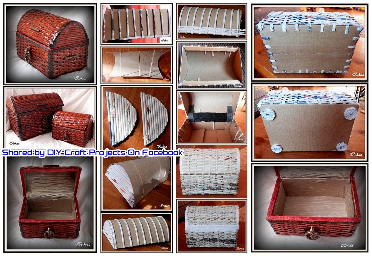 Diy old newspaper box to store things you love diy craft - Manualidades en carton ...