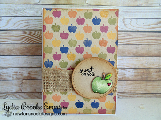 Apple Card by Lydia Brooke Evans for Newton's Nook Designs | Apple Delights Stamp Set