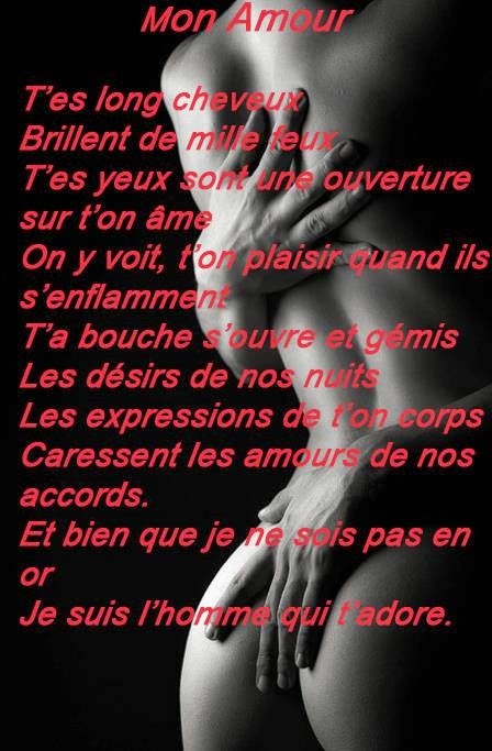 Exceptionnel images poème mots et phrase d'amour | Poème d'amour SMS romantique PM44