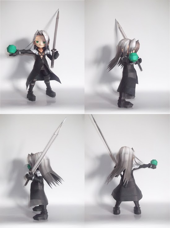 Chibi Sephiroth Paper Model