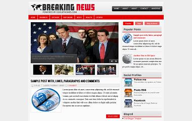 Breaking News Blogger Template