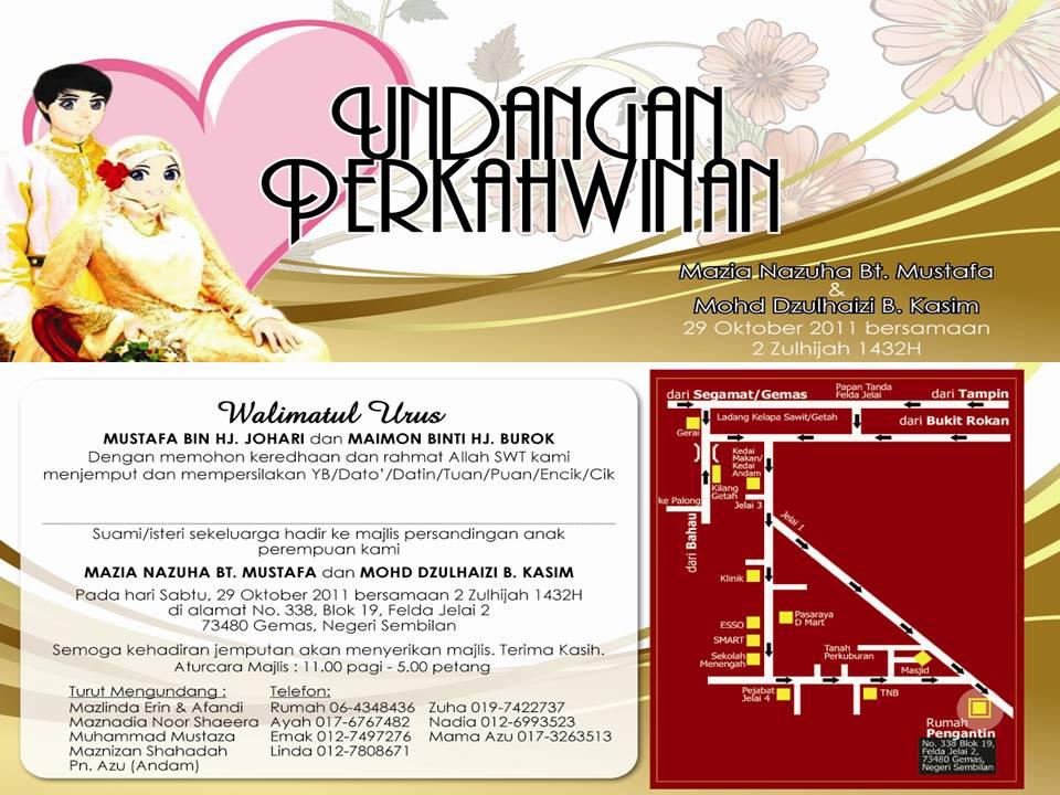 Undangan Majlis Perkahwinan- Entry Melekat...