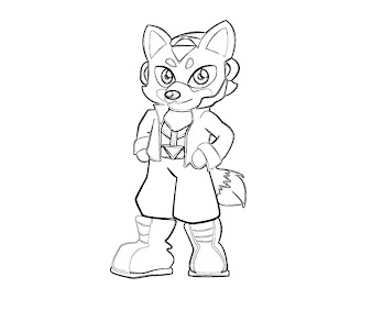 #16 Fox McCloud Coloring Page