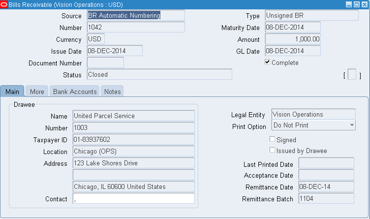 Oracle Applications Knowledge Sharing Ajay Atre Bills Receivable – Bill Receivables