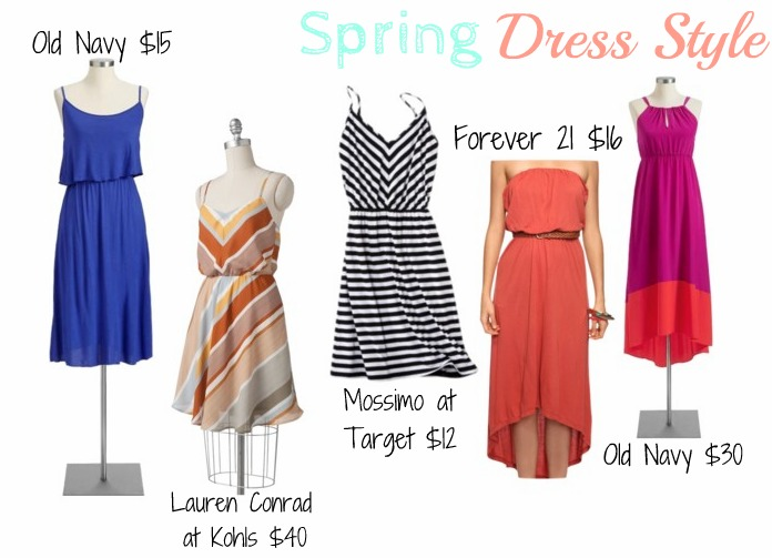 The Kohls and Old Navy dress on the right are too damn expensive...