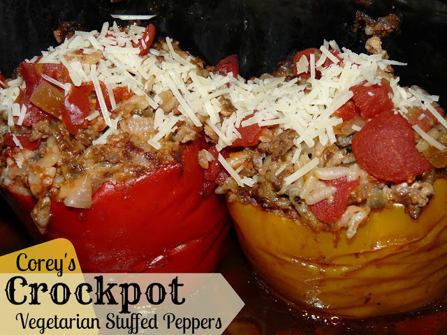 Crockpot vegetarian stuffed peppers