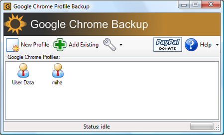 Google Chrome Add-On: Backup