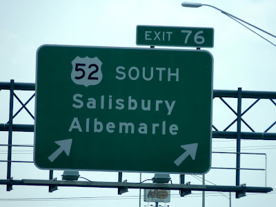 Salisbury road sign