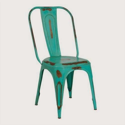 silla verde forja, silla rustica forja, silla envejecida forja