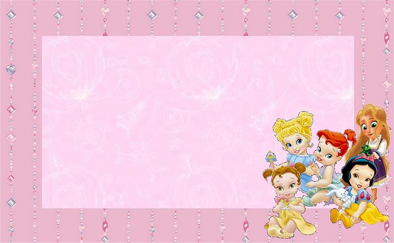 disney princess babies  free printable party invitations