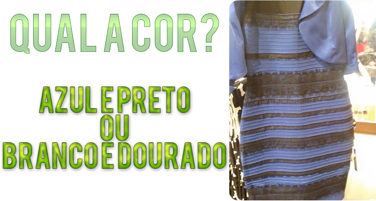 Vestido azul ou branco polemica