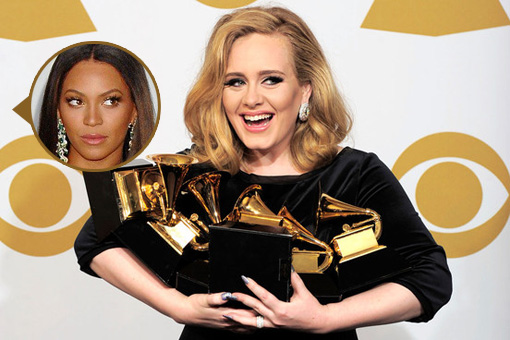 Adele cleans house at the 2012 Grammy's | Adele