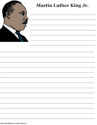 Church House Collection Blog: Martin Luther King Jr Writing Paper