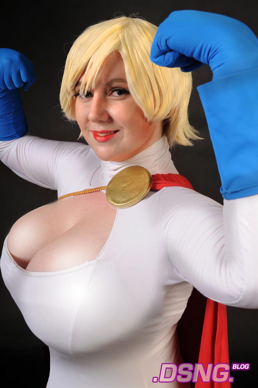 Hot blonde cosplay