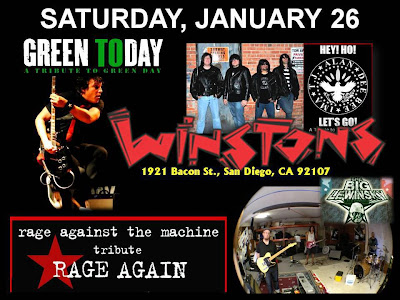 winstons, ocean beach, san diego live music, rage against the machine, green day, cover band