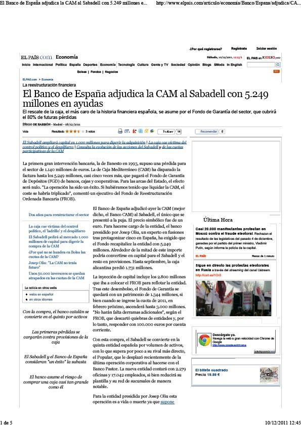 La gran corrupci n cam la caja cae v ctima del control for Sabadell cam oficinas