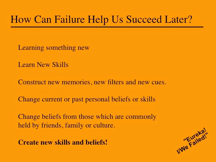 failures help us to succeed