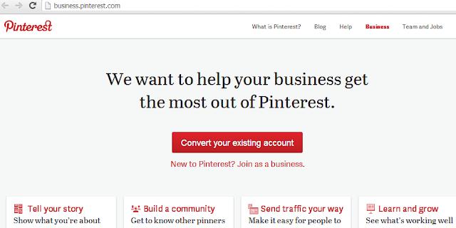 Pinterest verslui, svetainės adreso nurodymas