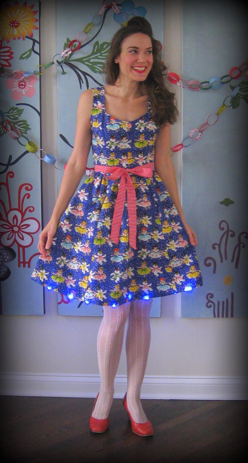 Cassie Stephens: Christmas light up dress
