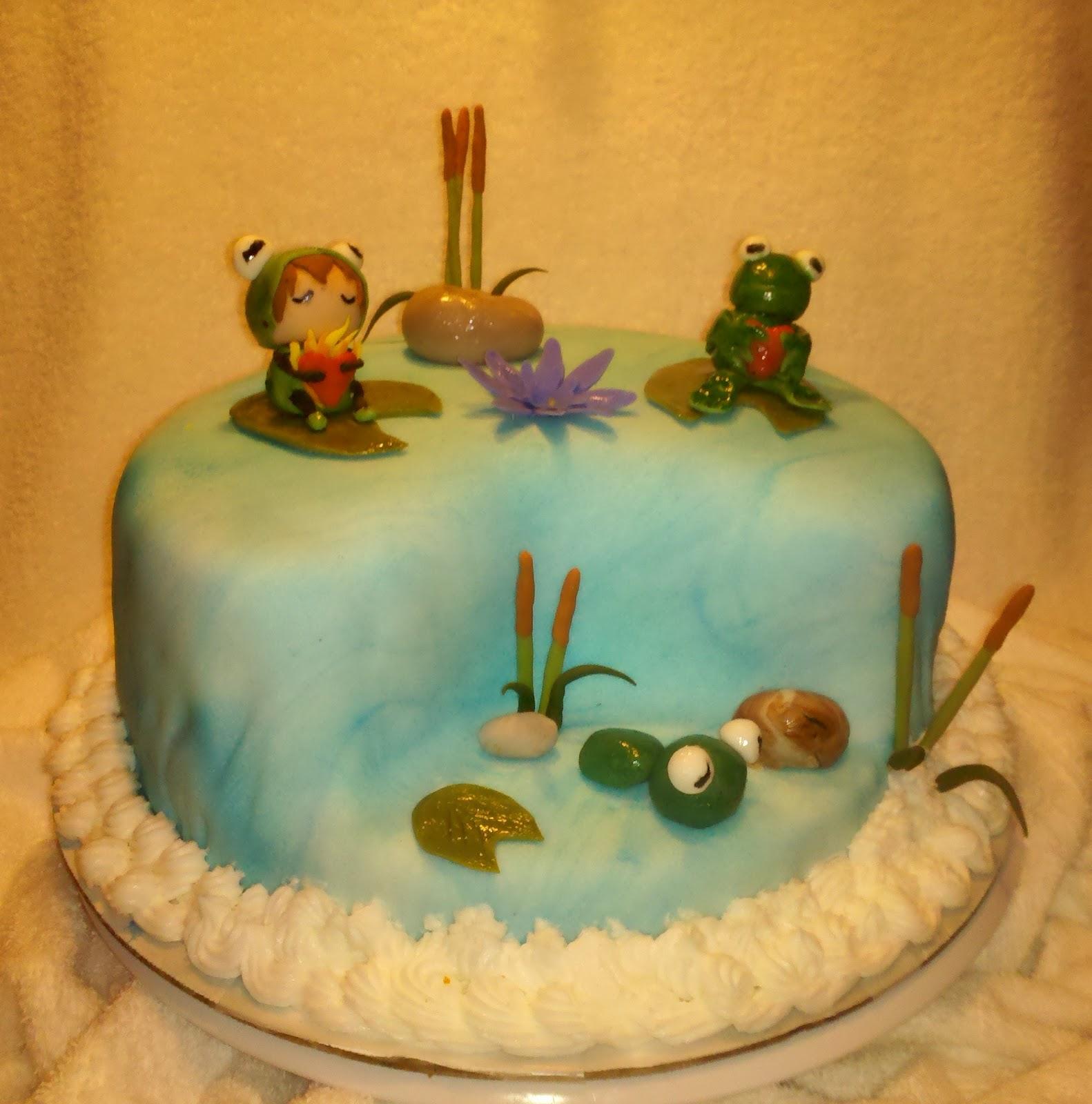 Artist Cake Decoration : Cake Decorating Gallery: Frog Pond