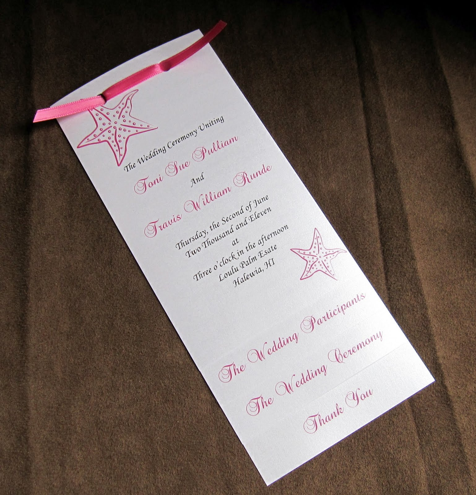 layered wedding program template
