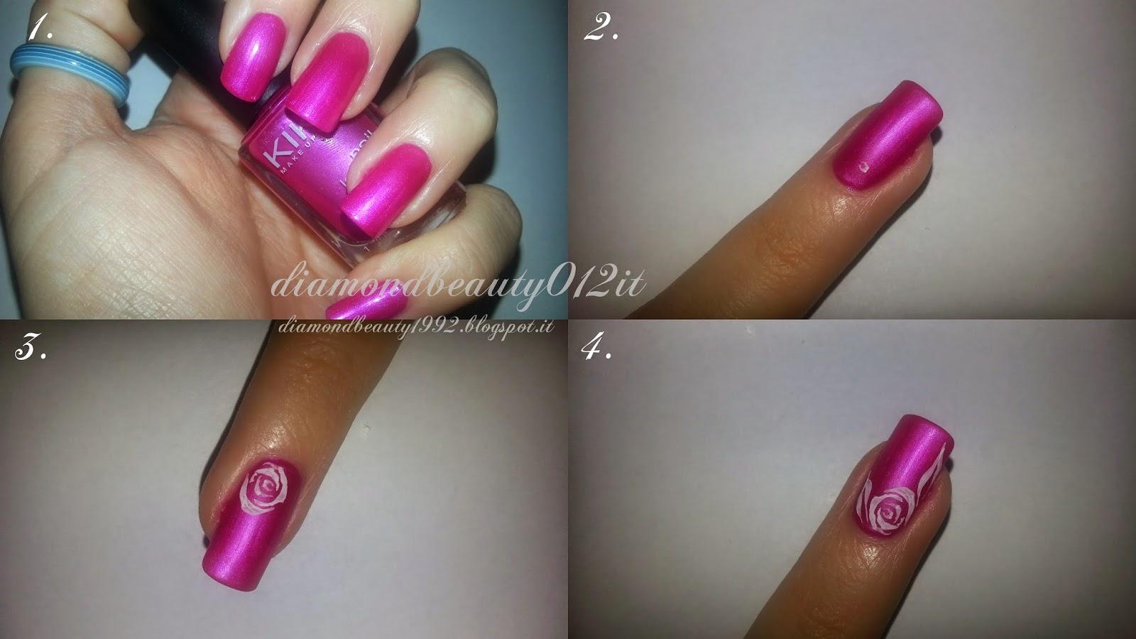 ricostruzione unghie nail art unghie naturali rosa stilizzata tutorial