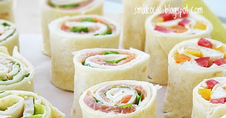 Smakocie I Lakolyki Roladki Z Tortilli Z Trzema Nadzieniami
