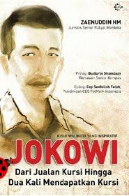 cover buku, Jokowi : dari Jualan Kursi hingga Dua Kali Mendapatkan Kursi, image