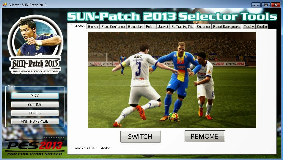 Download Sun PATCH 2.0 for PES 2013 Terbaru