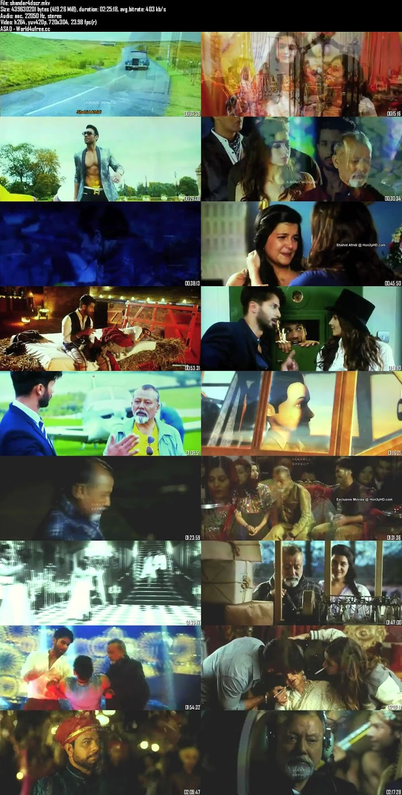 Shaandaar 2015 Hindi DVDScr 480p 400mb