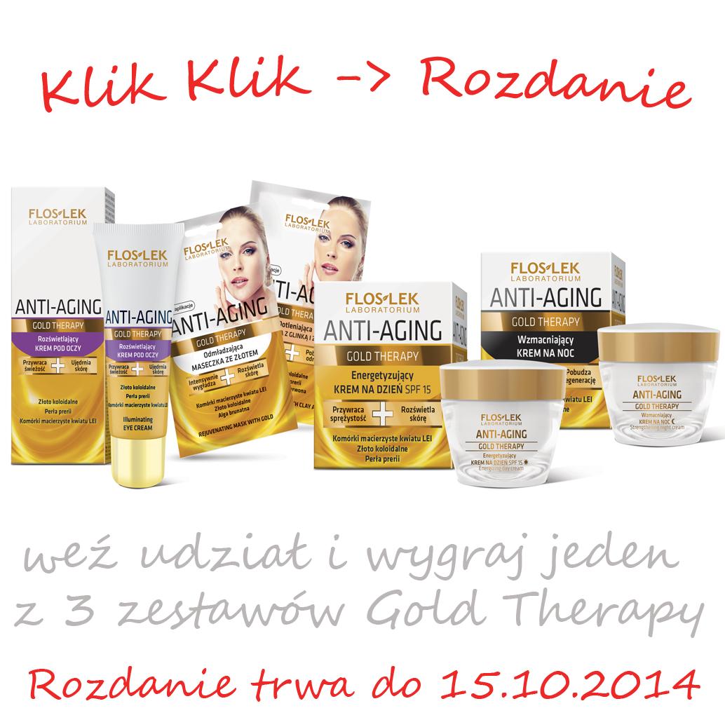 Konkurs wygraj kosmetyki Floslek Gold Therapy!