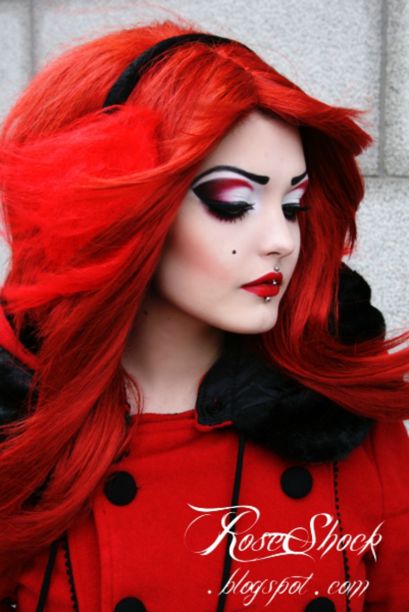 Rose Shock from a photoshoot for BackstreetEvil Little Red Riding Hood Makeup
