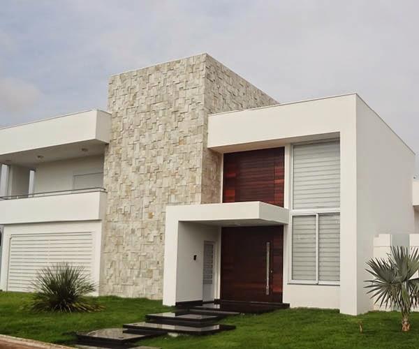 30 fachadas de casas com pedras veja diferentes tipos e for Fachadas casas unifamiliares
