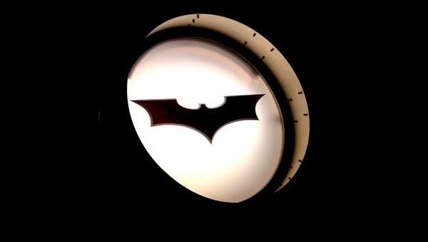 Imagen de la Batseñal en la Exposición VIP por el 75 Aniversario de Batman