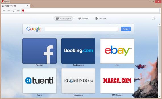 El navegador Opera se renueva con la versión 15