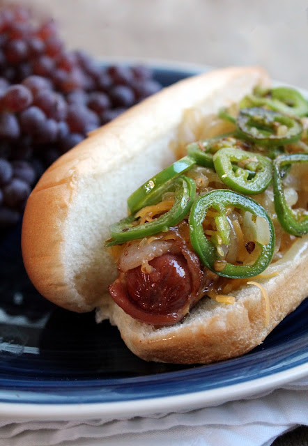 The Stay At Home Chef: Bacon Wrapped Hot Dogs with Jalapeno, Cheddar ...