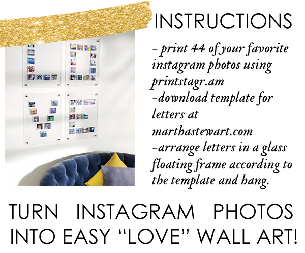 martha stewart, instagram art ideas, printing instagram photos