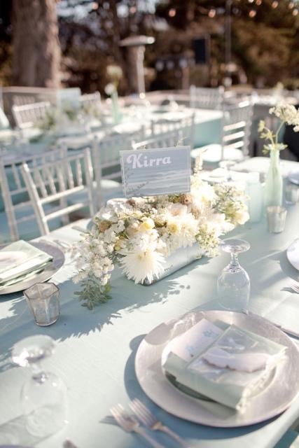 verde agua para una boda