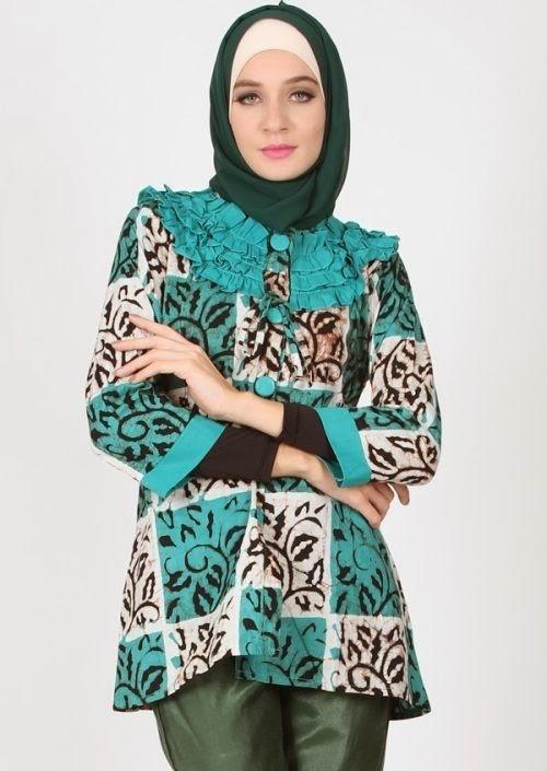 10 Model Baju Hamil Muslim Batik Kerja Koleksi Baju